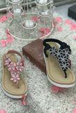 Pink Rubber Soul Diamante Bling Sandals