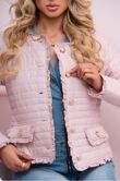 Nude Pink Padded Gold Buttons Jacket