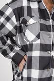 Black Checked Shacket