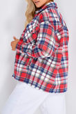 Red And Blue Multi Checked Jacket