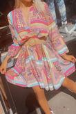 Aztec Floral Print Smock Dress