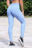 Baby Blue Textured Scrunch Butt Gym Leggings