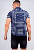 Bandana Print Short Sleeve Shirt