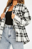 Black And White Checked Jacket