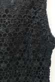 Black Cut Out Back Crochet Overlay Dress