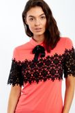 Black Floral lace Front With Broach