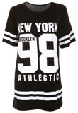 Black New York 98 Oversize T-Shirt