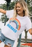 Black Rainbow NHS Heros Tee Top