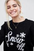Black Snow Off Christmas Jumper