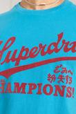 Blue Superdry Collegiate Graphic Tee