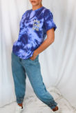 Blue Tie Dye Dior Oversized Tee