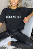 Black ESSENTIAL Oversized Tee