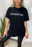 Plus Size Black ESSENTIAL Oversized Tee