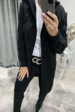 Black Cable Knit Hood Cardigan Pre-Order