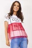 Coco Wahine Mesh Overlay T-Shirt Top