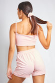 Dusty Basic Crop Top and Short Set With Scrunchie