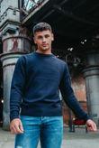 Navy Fine Knit Tawn Jumper