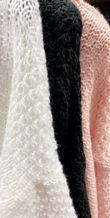 Frill Knitted Shirt Jumper