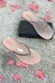 Fuchsia Shinny Diamante Flat Sandals