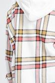 Fuchsia Check Shacket With Hood