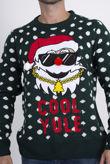 Green Cool Yule Santa Christmas Jumper