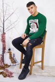 Green Tinsel Dates Christmas Jumper