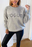 Grey VOGUE Sweatshirt