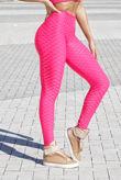Hot Pink Textured Scrunch Butt Gym Leggings