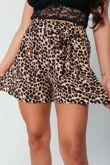 Leopard Print Paperbag Shorts