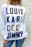 White Louis Karl Coco Jimmy Sweatshirt