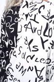 Monochrome Printed Spliced Colourblock Shirt