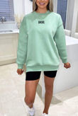 Plus Size Sage BASIC Sweatshirt
