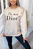 Plus Size Stone Oh My Dior! Sweatshirt