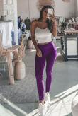 Purple Basic Seamless Leggings