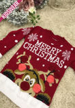Red Kids Merry Christmas Knitted Jumper