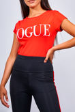 Red Vogue Tee Top