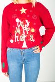 Red X-MAS Star Tree Knitted Christmas Jumper
