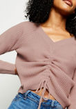 Ruched Knitted Jumper