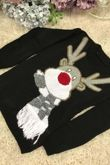 Red Kids Scarf Reindeer Knitted Christmas Jumper