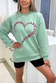 Sage Butterfly Heart Sweatshirt