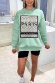 Plus Size Sage Paris Printed Sweatshirt