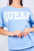 Sky Blue Queen Lounge Wear Short Set
