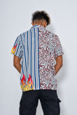 Swirl Flame Printed Short Sleeve Shirt