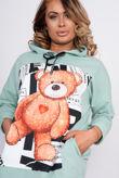 Teddy Bear Hooded Sweat Jumper Dress