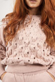 Pink Knitted Bubble Lounge Set