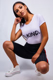 White Be Kind Tee Top