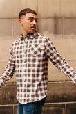 White Long Sleeve Tartan Print Shirt