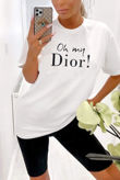 White Oh My Dior! Oversized Tee
