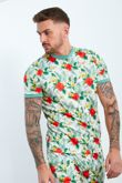 White Tropical Printed T-shirt And Shorts Set