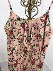 Plus Pink Floral Ruffle Maxi Dress